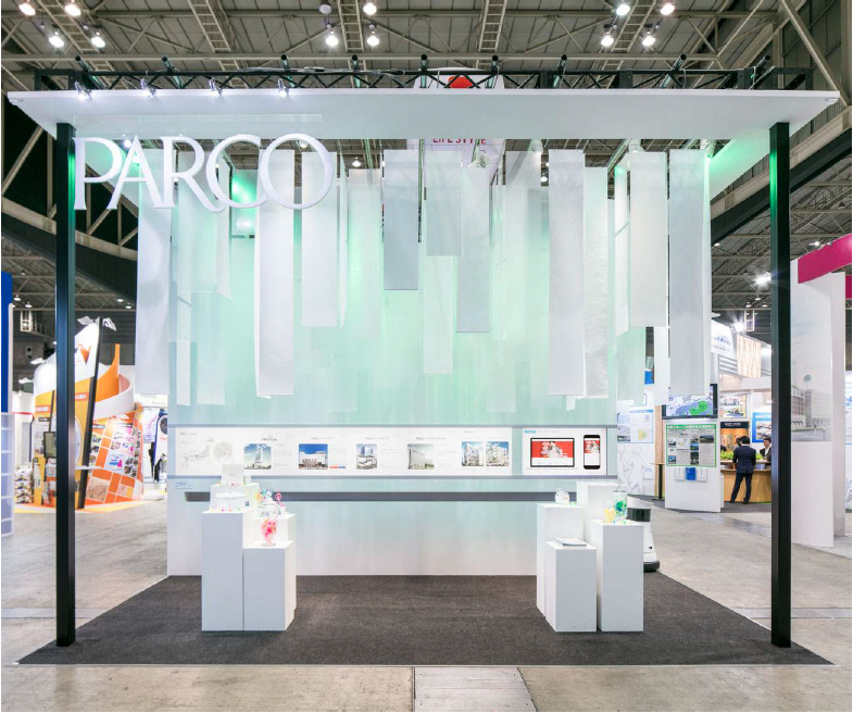 PARCO Japan dynamic booth lighting | Invisua Lighting